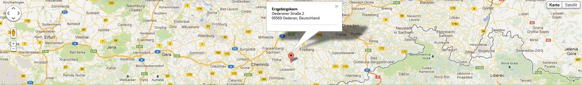 Google Maps Karte Erzgebirgskorn
